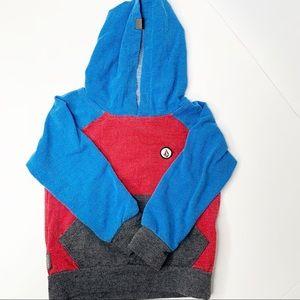 Volcom Boys Hoodie Sweater Toddler Red Blue Grey